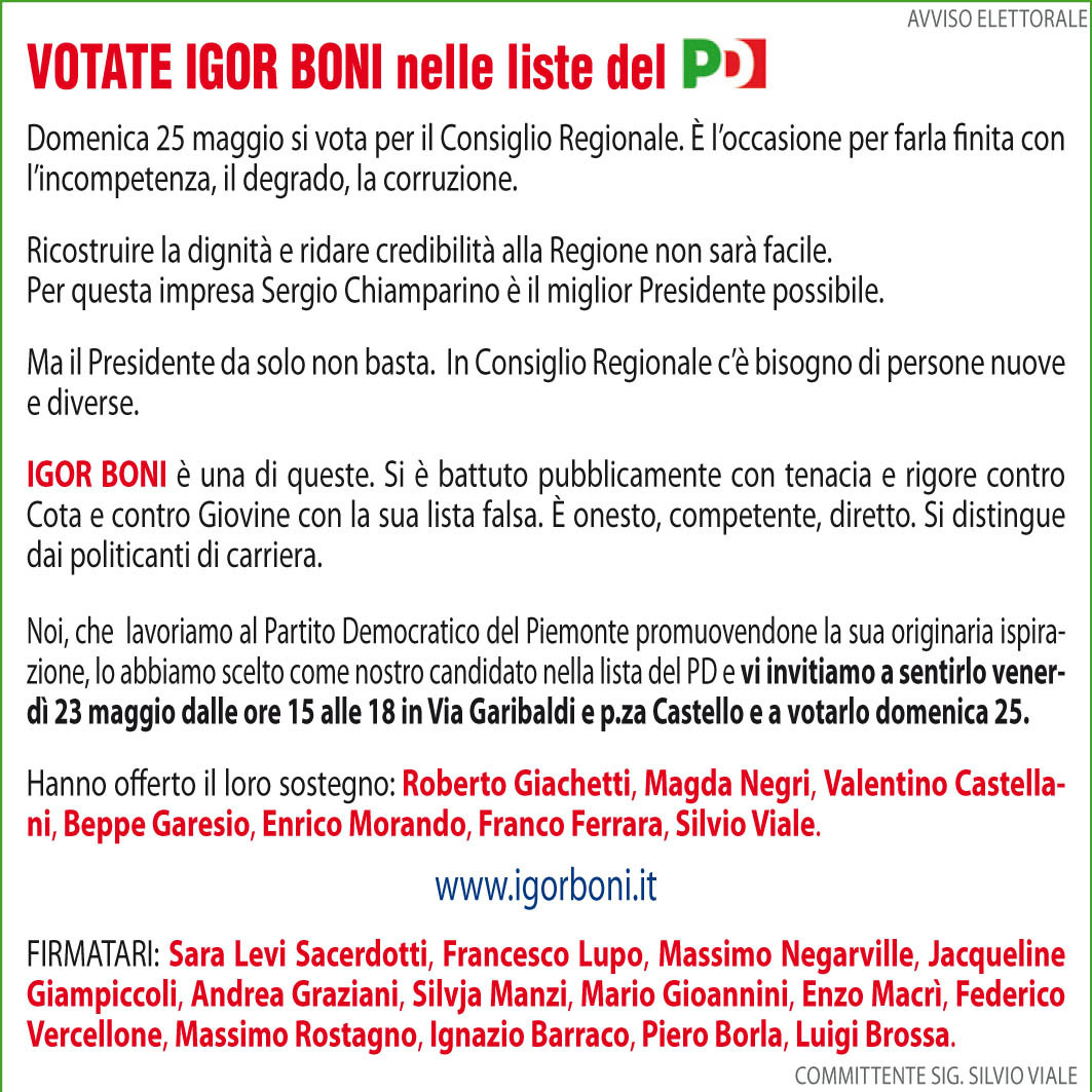 manchette Boni Repubblica senza refusi.indd