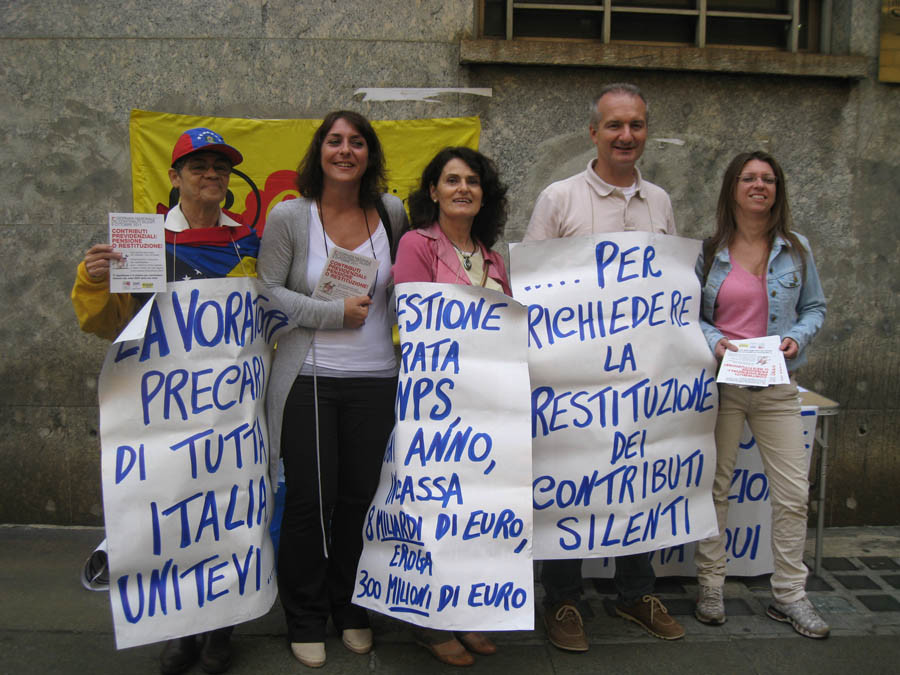 manifestazione contro gestione separata inps