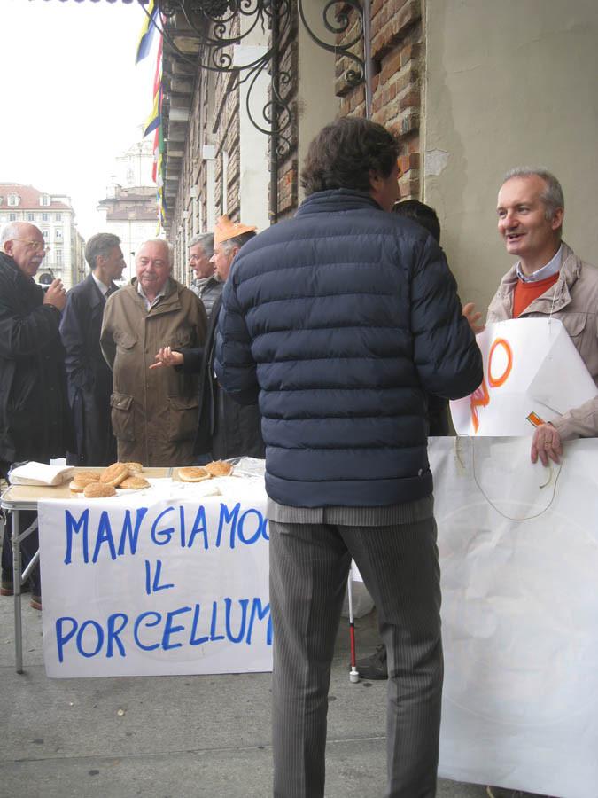 manifestazione contro il porcellum